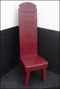 Cadair Eisteddfod Caban Mills 1938