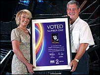 Elaine Paige with Sir Cameron Mackintosh