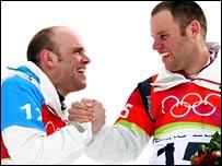 Philipp (right) and Simon Schoch