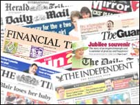 Mastheads of the national newspapers