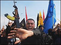 Shia protesters in Sadr City