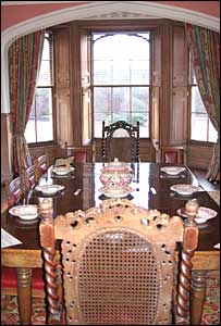 The dining room of Abbotsford House