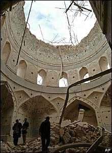 View inside the collapsed dome