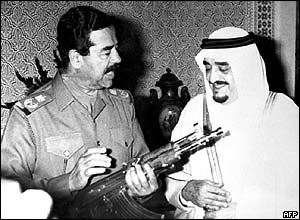 King Fahd with Saddam Hussein