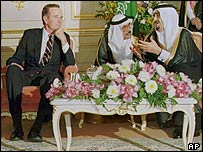 President George Bush and King Fahd in Riyadh, November 1990