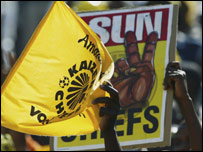 Fans of South African club Kaizer Chiefs