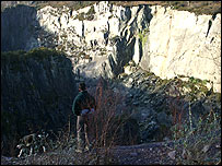 Glyn Rhonwy Quarries - photo courtesy of Beicio Llanberis Cyf