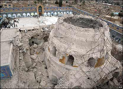 Damage to Samarra shrine