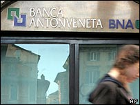 A branch of Italian bank Antonveneta