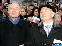 Ken Livingstone and Yuri Luzhkov (file picture)