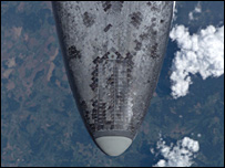 View of shuttle nose (nasa)