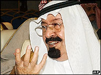 Crown Prince Abdullah who will take over as King of Saudi Arabia