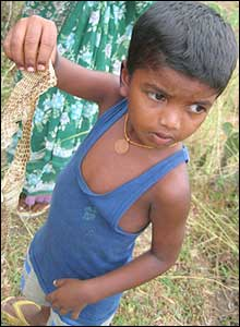 Five-year-old Surya is a member of the group