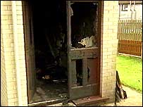 Family's house was attacked by arsonists