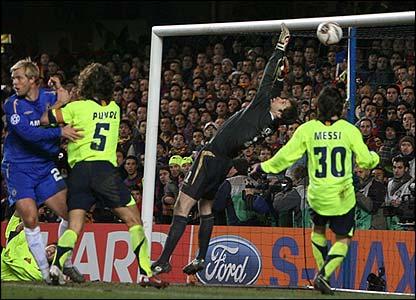 Peter Cech is beaten by John Terry's own-goal