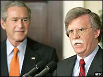 President George W Bush appoints John Bolton as US envoy to the UN
