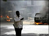A protester in Khartoum