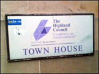 Highland Council sign