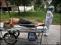 Elderly man made unwell by the disease