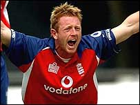 Paul Collingwood appeals for a wicket during the recent one-day series
