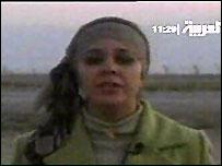 Atwar Bahjat filing a report on Wednesday evening, shortly before her murder