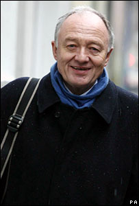 Ken Livingstone arrives at the hearing