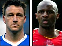 Chelsea captain John Terry and former Arsenal skipper Patrick Vieira
