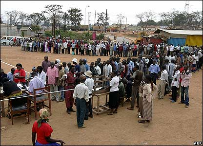 Image result for People queuing to vote