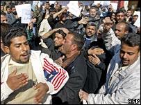 Iraqi Shia protesting in Baghdad