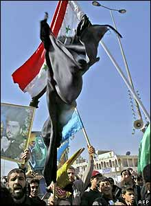 Radical Shia demonstrators in Sadr City, Baghdad