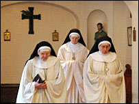 Nuns processing into a prayer service