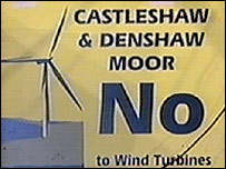 Wind farm protest poster