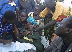 Mr Garang's family grieve