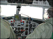 Cockpit of aeroplane (BBC)