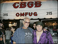 CBGB's founder Hilly Kristal and musician Steven Van Zandt