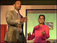 Will Smith at TV channel launch