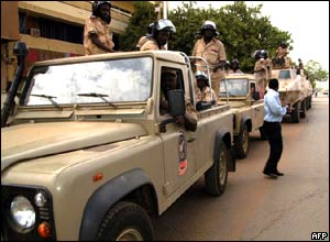 Soldiers on the streets of Khartoum