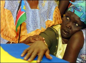 John Garang's widow, Rebecca Nyandeng
