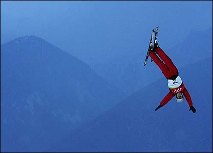 China's Han Xiaopeng competes in the men's aerials