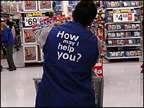 Wal-Mart worker at a store in New Jersey