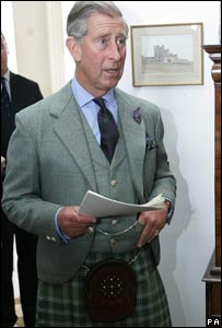 Prince Charles at Castle of Mey launch
