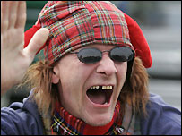 A Scottish supporter at the HWC