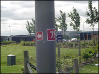 Some times the signs were no more than tiny badges on distant lampposts