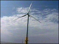 Wind turbine on the Kentish Flats
