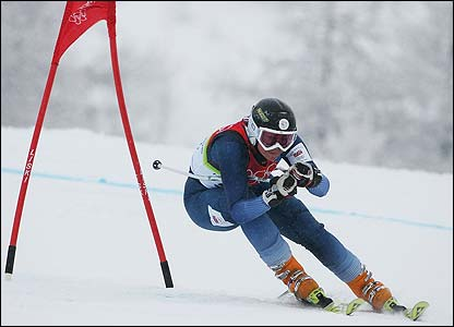 Britain's Chemmy Alcott competes in the women's giant slalom