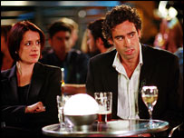 Raquel Cassidy and Stephen Mangan
