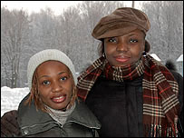 RUDN students Veronica Chidimma Nwogwugwu (L) and Lily Dorgu