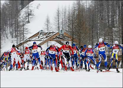 The women's cross-country 30km takes place at Pragelato
