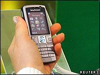 Mobile phone at 3GSM