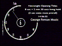 Newsnight's clock ident